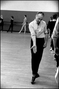 A famous photo of George Balanchine teaching in NYC.