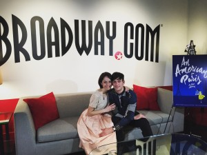 Sara Esty with her AAIP partner Garen Scribner, an american in paris , broadway.com, broadway, an american in paris national tour, sara esty broadway